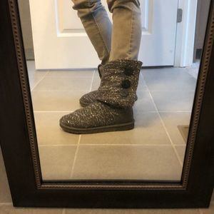 UGG Shoes - Ugg classic cardy sequin boots in gray (7)